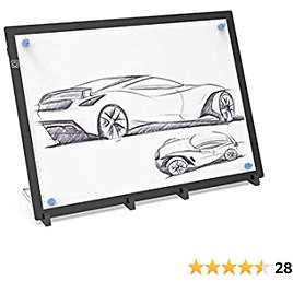 50% Off On Shelled A3 LED Light Box Portable Tracing Light Pad USB Powered Light Drawing Board Kit with Stand and Magnets