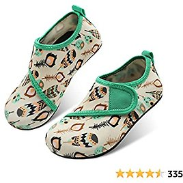 JOINFREE Kids Boys and Girls Swim Water Shoes Toddler Quick Dry Aqua Socks Barefoot Skin Shoes for Beach Sports
