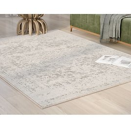 55% Off! Hillsby Oriental Charcoal/Light Gray/Beige Area Rug