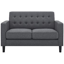 """Fiedler 54"""" Square Arm Loveseat - 8 Colors"""
