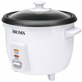 Aroma 6-Cup 1.5Qt. Non-Stick Rice Cooker