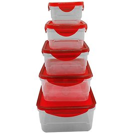 Set of 5 Farberware Square Food Containers