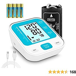 Blood Pressure Monitor, CARMAS Blood Pressure Monitor Upper Arm with 8.7-15.7inch Large Cuff, Automatic Upper Arm Machine Large LCD Display 2*120 Sets of Memory (Blue)