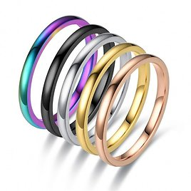 10% OFF 24k Gold Ring,Wedding Bands Without Stones