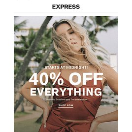 Express - Extra 40% Off Everything (memorial Day Sale)