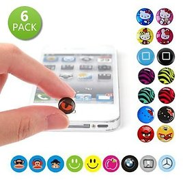 74% OFF! 6 Pack Home Button Stickers for IPhone IPad and IPod