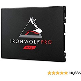Seagate IronWolf Pro 125 SSD 3.84TB NAS Internal Solid State Drive - 2.5 Inch SATA 6Gb/s Speeds Up to 545MB/s, 1 DWPD Endurance and 24x7 Performance for Creative Pro, and SMB (ZA3840NX1A001)