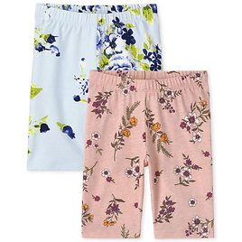 Girls Mix And Match Floral Print Knit Bike Shorts 2-Pack | The Children's Place