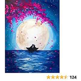 """5D DIY Diamond Painting Kits for Adults Full Drill Scenery Moon Diamond Art Paint with Diamonds Gem Art for Adults Home Wall Decor Gift Canvas Size 14""""W X 18""""L"""