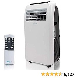 Portable Electric Air Conditioner Unit - 1150W 10000 BTU Power Plug In AC Indoor Room Conditioning System w/ Cooler, Dehumidifier, Fan, Exhaust Hose, Window Seal, Wheels, Remote - SereneLife SLPAC10