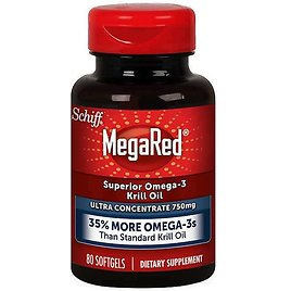 80-Count Schiff MegaRed Omega-3 750mg Krill Oil Softgels