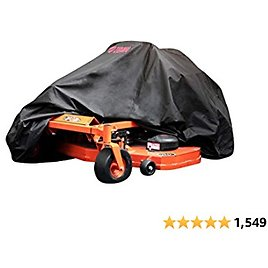 Tough Cover Premium Zero-Turn Mower Cover. Heavy Duty 600D Marine Grade Fabric. Universal Fit. Weather, UV Protection.