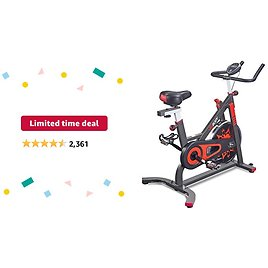 Limited-time Deal: VIGBODY Exercise Bike Indoor Cycling Bicycle Stationary Bikes Cardio Workout Machine Upright Bike Belt Drive Home Gym