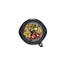"""Maxi-Matic Elite Gourmet EMG-980B Indoor Electric Grill, 14"""" Round, Black: Kitchen & Dining"""