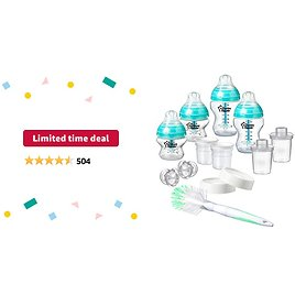 Limited-time Deal: Tommee Tippee Advanced Anti Colic Newborn Bottle Feeding Starter Set