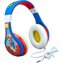 KIDdesigns EKids Super Mario Youth Wired Over The Ear Headphones Blue MO-140.EXv0