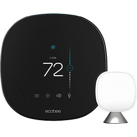 Ecobee Smart Thermostat with Voice Control Black EB-STATE5-01