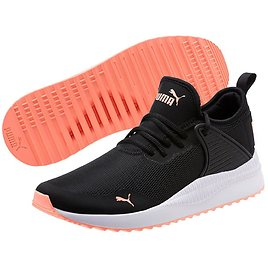 Black & Bright Peach Pacer Next Cage Sneaker