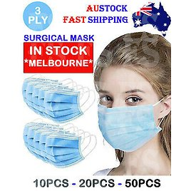 MEDICAL FACE MASK MOUTH MASKS SURGICAL GRADE DISPOSABLE 3 PLY CE CERTIFIED LVL 2