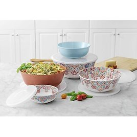 Member's Mark 10-Piece Melamine Mixing Bowls with Lids (Assorted Colors) - Sam's Club