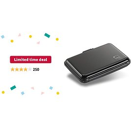 Limited-time Deal: Lewis N. Clark Rfid Aluminum Wallet, Black, One Size