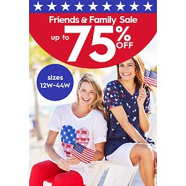 Save Up to 75% Off Friends and Family Sale