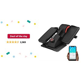 Deal of The Day: Cubii Pro Seated Under Desk Elliptical Machine for Home Workout, Pedal Bike Cycle Motion, Bluetooth Sync Fitbit & Apple, Whisper Quiet, Compact Mini Exerciser W/Adjustable Resistance & LCD