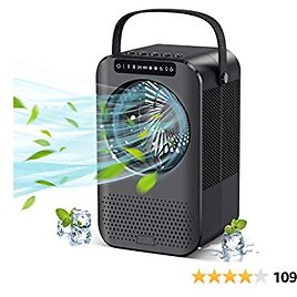 Personal Air Cooler, Evaporative Air Cooler, Portable Air Conditioner with LCD Display