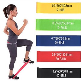 Alphabet Deal | 5 Piece Set Of Resistance Body Bands With Ca| Price : $13.00
