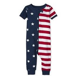 50% OFF Unisex Baby And Toddler Matching Family Americana Short Sleeve Snug Fit Cotton One Piece Pajamas