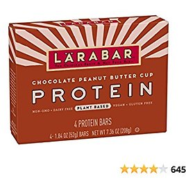 Larabar Protein Bar, Chocolate Peanut Butter Cup, 4 Count (Pack of 8)