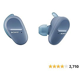 Sony WF-SP800N Truly Wireless Sports In-Ear Noise Canceling Headphones with Mic for Phone Call and Alexa Voice Control, Blue