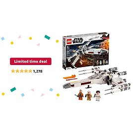 Limited-time Deal: LEGO Star Wars Luke Skywalker's X-Wing Fighter 75301 Awesome Toy Building Kit for Kids, New 2021 (474 Pieces)