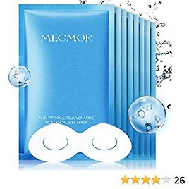 MECMOR Anti-aging Eye Treatment Mask 8 Pairs for Reducing Fine Lines and Dark Circles, Eye Mask for Puffiness, Additive Free Tightening Moisturizing Hydrating Skin for Women and Men, For All Skin Type