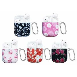 Floral Printed Hard Case for AirPods - Multiple Colors