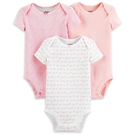 3-Pack Child of Mine By Carters Baby Girl Bodysuits  $3.00