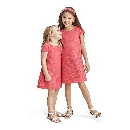 70% OFF! Girls Easter Short Sleeve Daisy Lace Shift Dress | The Children's Place