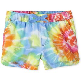 $2.99 Toddler Girls Print Twill Pull-On Shorts + F/S