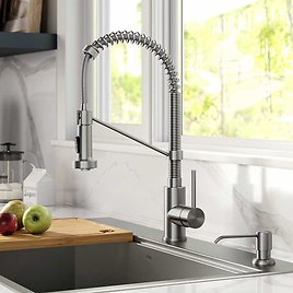 $50 OFF Kraus Pull-Down Kitchen Faucet With Soap Dispenser