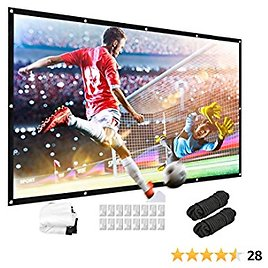 Thickened Projector Screen, 16:9 HD 3D Foldable Anti-Crease Portable Projector Movie Screen for Home Theater Indoor Outdoor Support Double Sided Projection (100INCH)