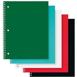"""Office Depot® Brand Poly Cover Wirebound Notebooks, 8"""" X 10-1/2"""", 1"""