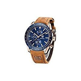 Timex Men's TW2P75800 Easy Reader 38mm Brown/Gold-Tone/Cream Leather Strap Watch: Watches