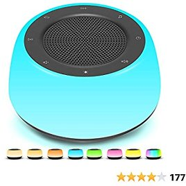Save 50% Off White Noise Machine with Night Light for Baby Kids Adult, Sleep Sound Machine 16 HiFi Soothing Lullaby Nature Sound