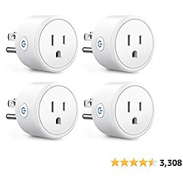 Aoycocr Bluetooth WiFi Smart Plugs - Smart Home Wifi Outlet Work with Alexa Echo Google Home, Voice Control, Timer Remote Control 4 Pack, ETL Listed