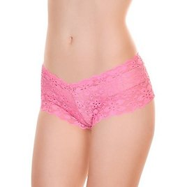 Angelina Floral Lace Cheeky Boxer Panties (12-Pack)