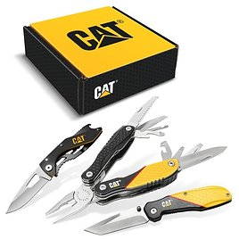 CAT 3-Piece Multi-Tool & Pocket Knife Bundle with Gift Box