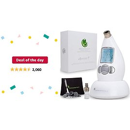 Deal of The Day: Microderm GLO Diamond Microdermabrasion Machine and Suction Tool - Clinical Micro Dermabrasion Kit for Tone Firm Skin, Advanced Home Facial Treatment System & Exfoliator For Bright Clear Skin
