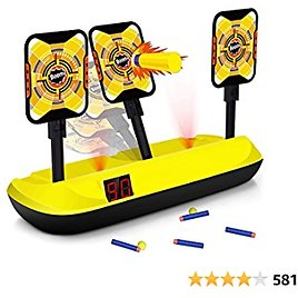 Hot Sale Digital Target for Shooting Compatible with Nerf Guns-Electronic Scoring Auto Reset 3 Targets for Kids