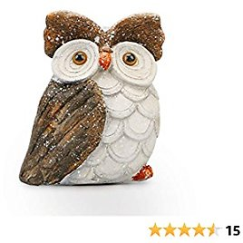 Funny Owl Daughter Figurines Decor, ARTICTERN, Unique Home Decorations Accent Figuriness, 10 in Medium Size, Resin Fall Farmhouse Deco for Living Room, Office, Shelves, Kitchen and Bird Lovers