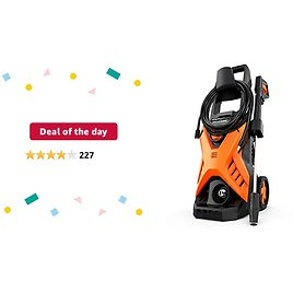 Deal of The Day: PAXCESS Electric Pressure Power Washer 2300 PSI 1.6 GPM Portable Car Washer with Adjustable Spray Nozzle, Foam Cannon, IPX5 Car Washer Cleaner for Home/Car/Driveway/Patio Furniture